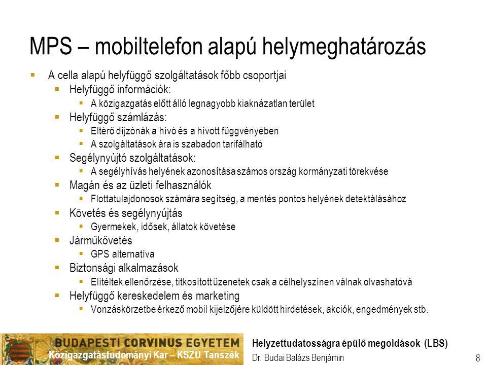 MPS – mobiltelefon alapú helymeghatározás