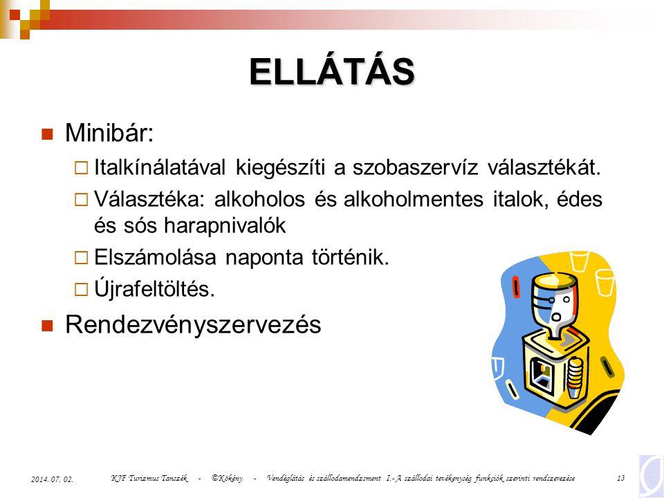 ELLÁTÁS Minibár: Rendezvényszervezés