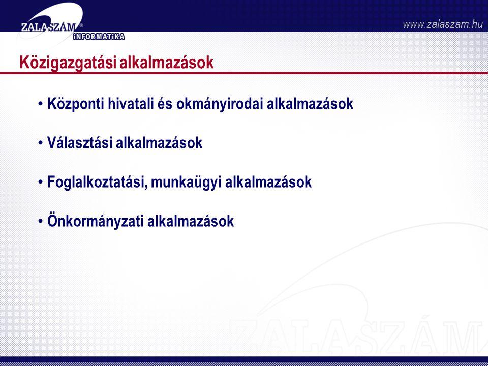 Közigazgatási alkalmazások