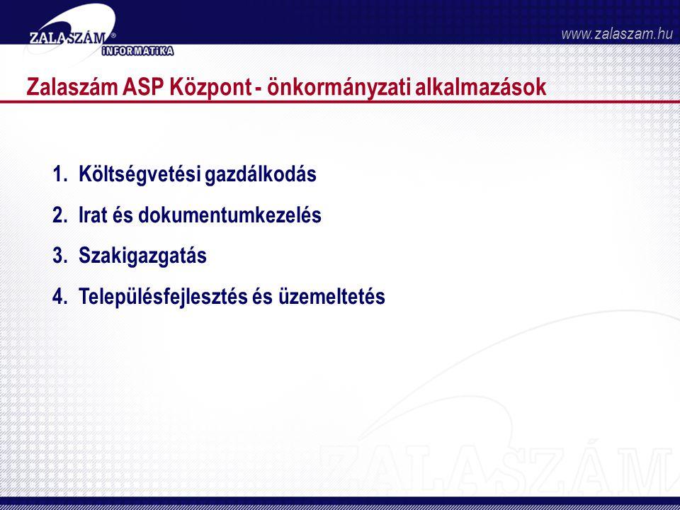 Zalaszám ASP Központ - önkormányzati alkalmazások