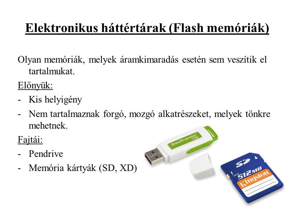 Elektronikus háttértárak (Flash memóriák)