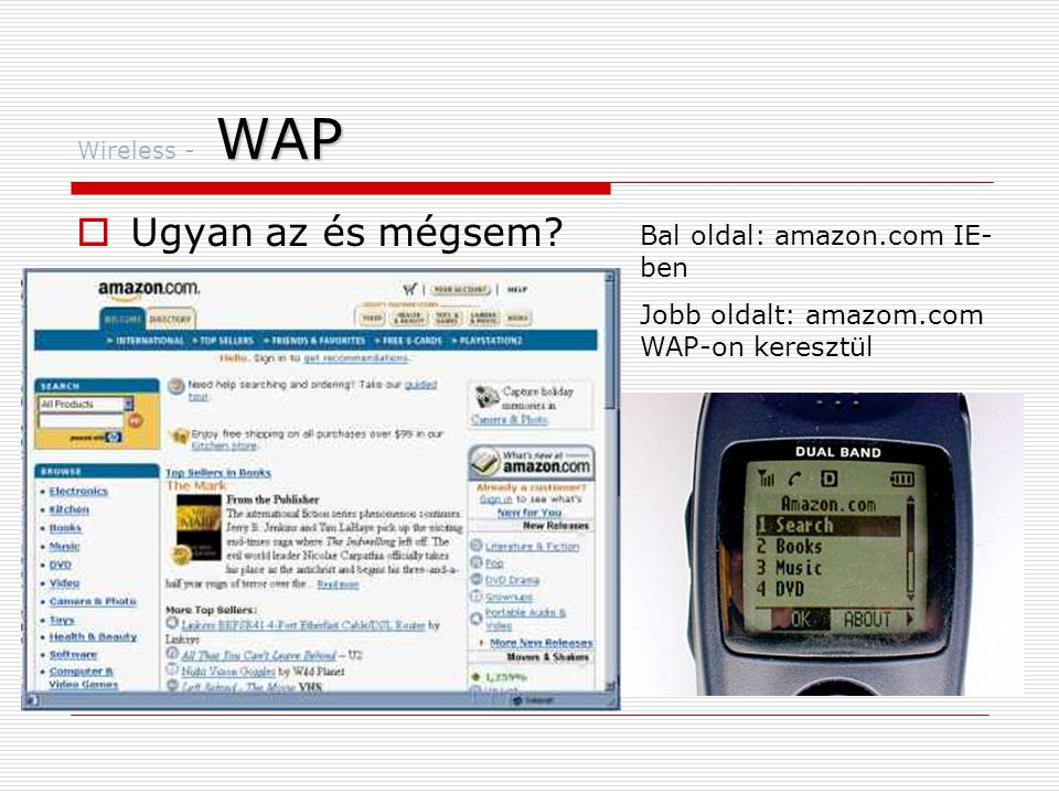 Ugyan az és mégsem Bal oldal: amazon.com IE-ben
