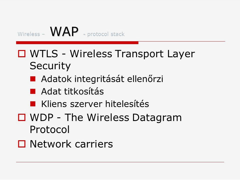Wireless – WAP - protocol stack