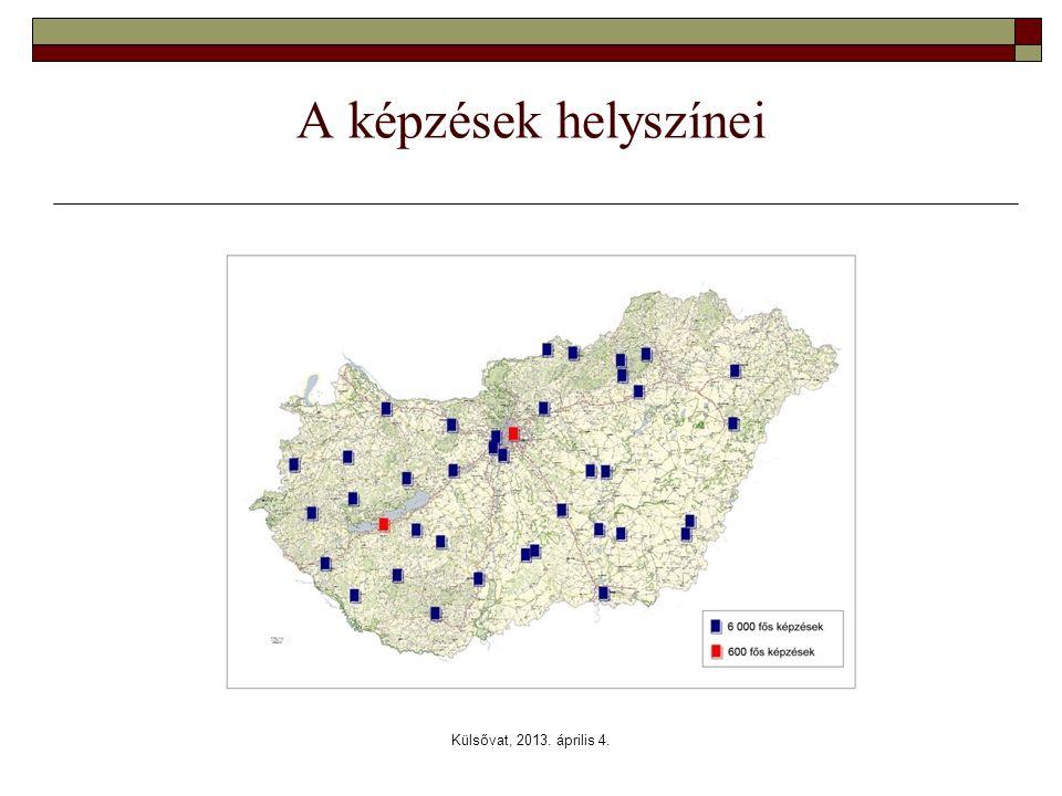 A képzések helyszínei Külsővat, 2013. április 4.