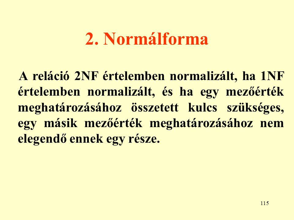 2. Normálforma