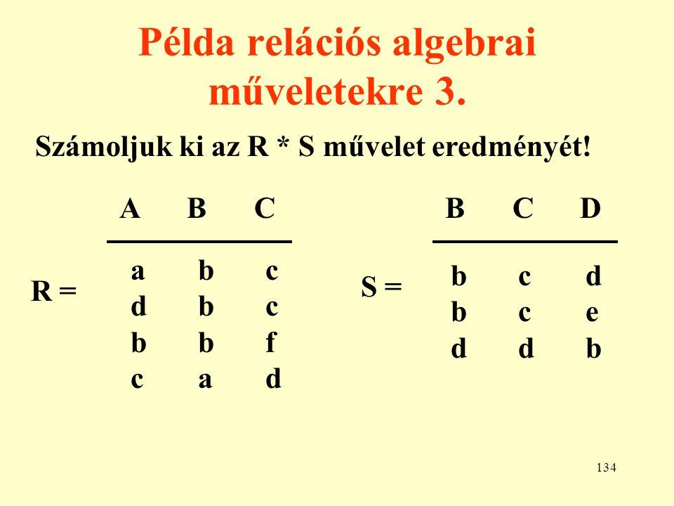 Példa relációs algebrai műveletekre 3.