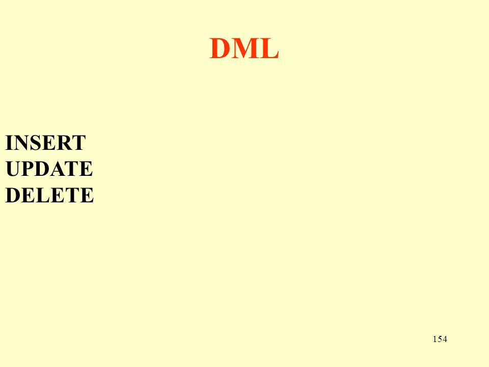 DML INSERT UPDATE DELETE