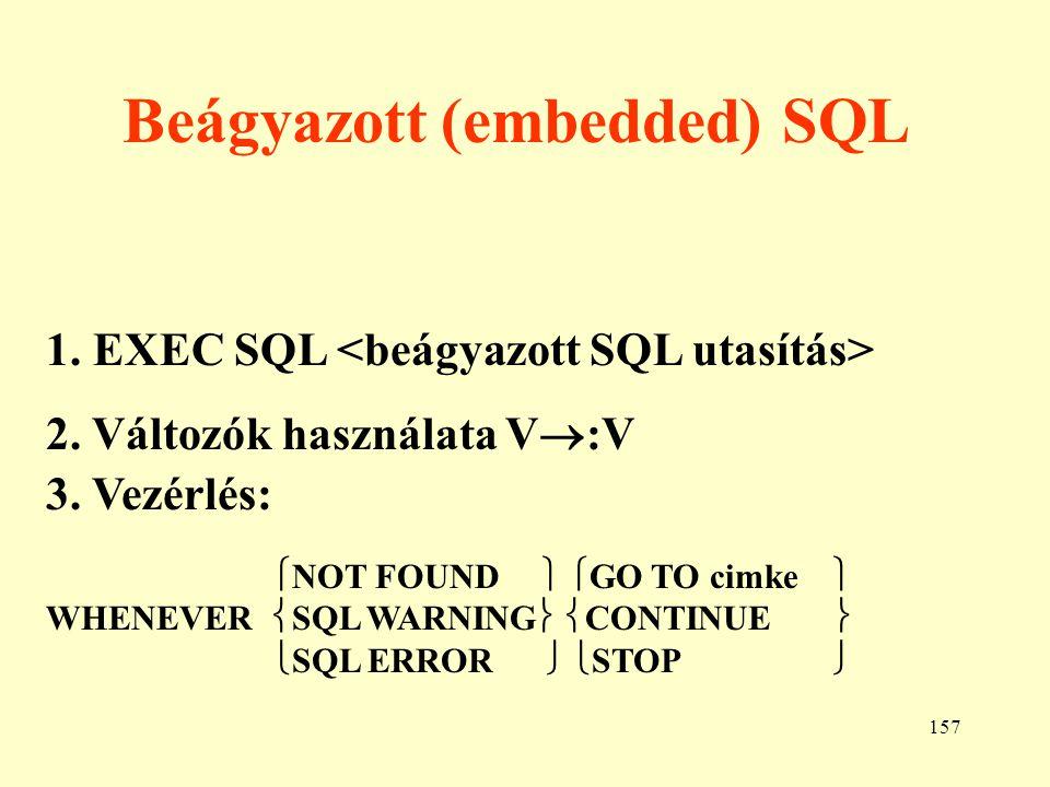 Beágyazott (embedded) SQL
