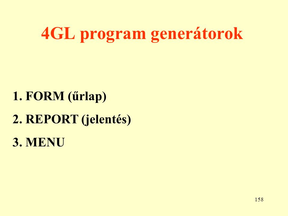 4GL program generátorok