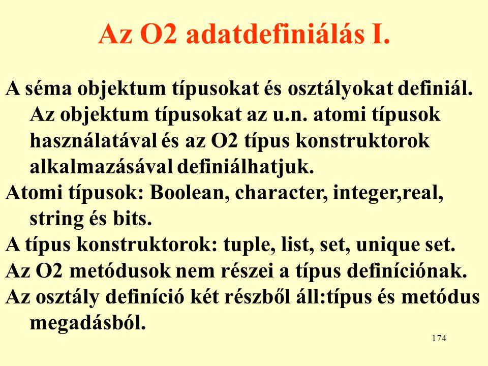 Az O2 adatdefiniálás I.