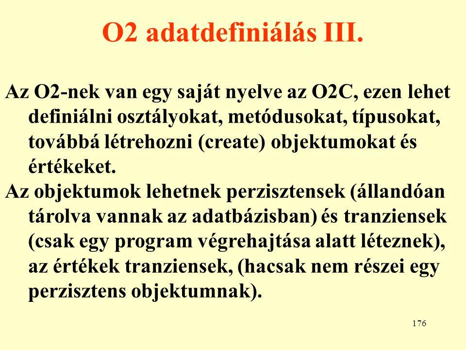O2 adatdefiniálás III.