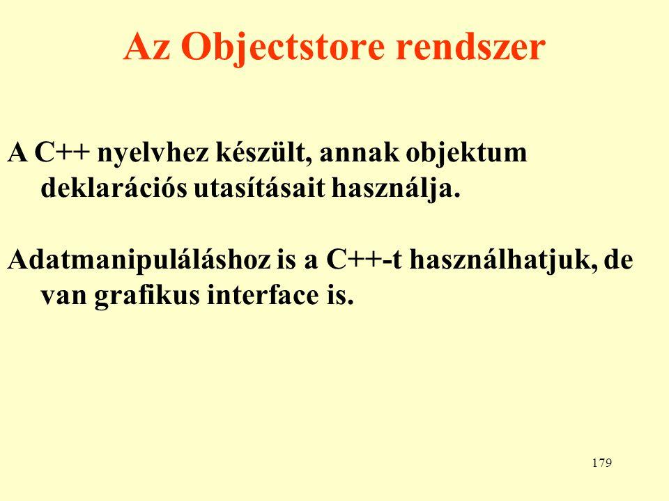 Az Objectstore rendszer