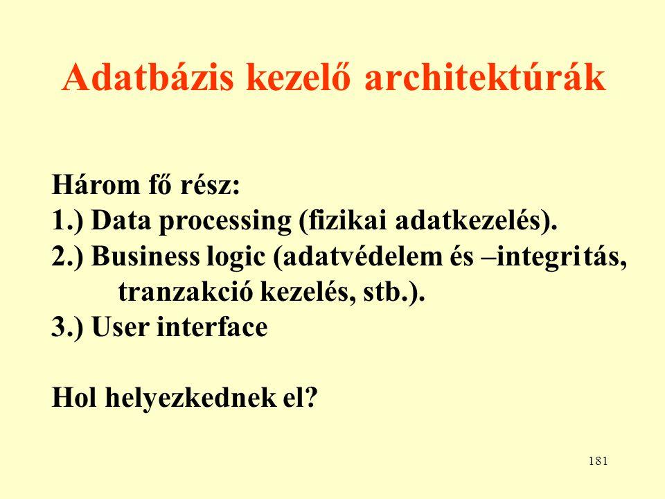Adatbázis kezelő architektúrák