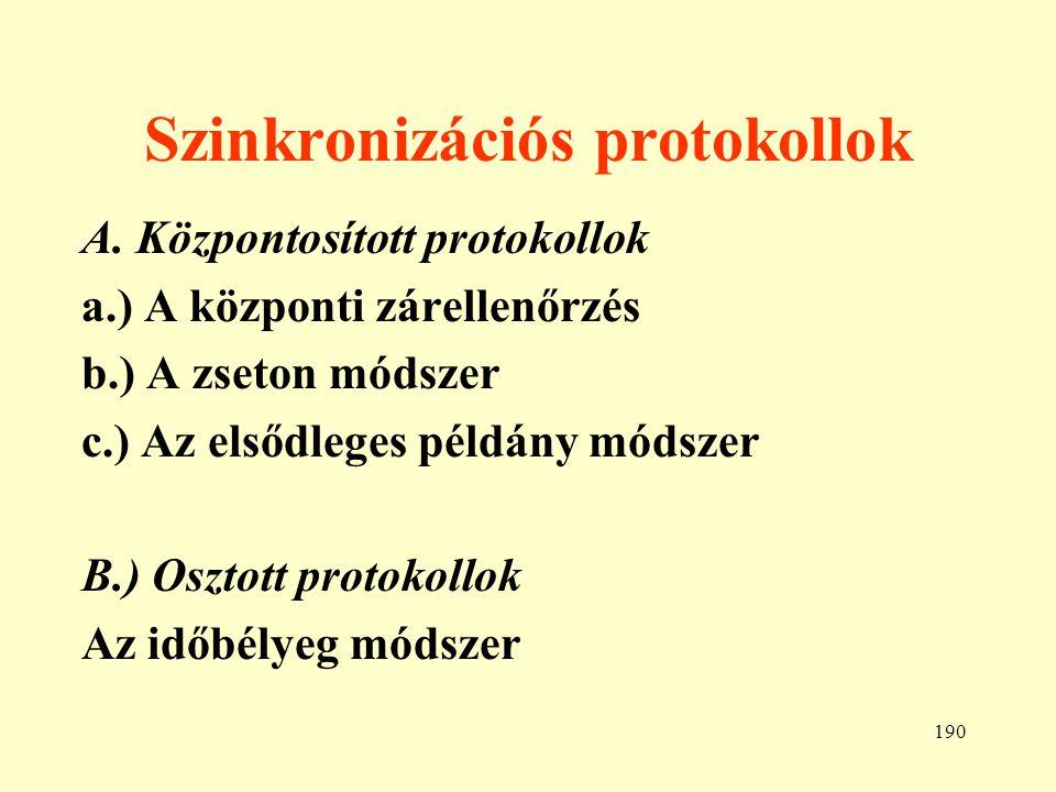 Szinkronizációs protokollok