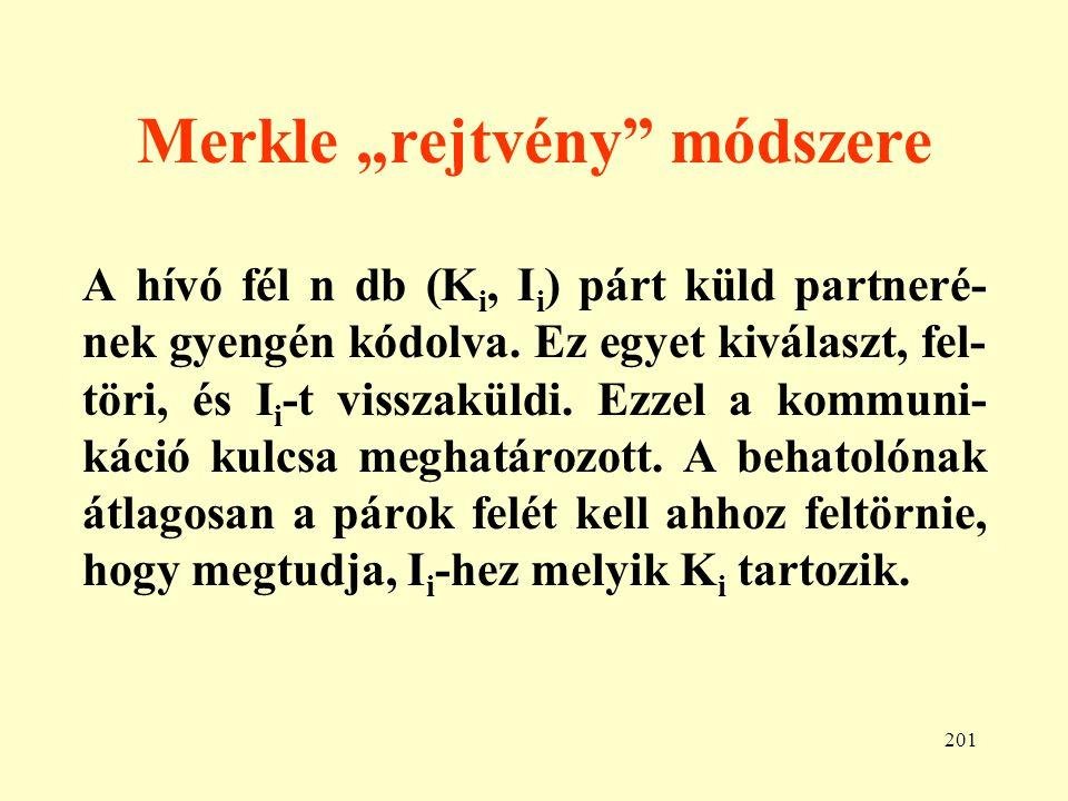 """Merkle """"rejtvény módszere"""