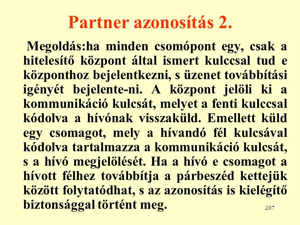 Partner azonosítás 2.