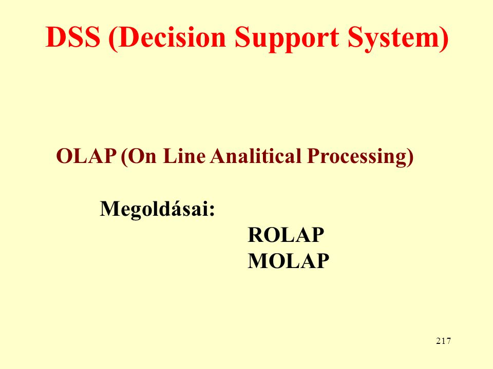 DSS (Decision Support System)