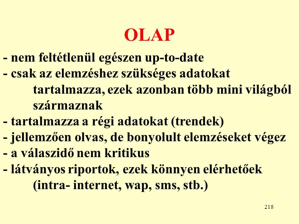 OLAP - nem feltétlenül egészen up-to-date