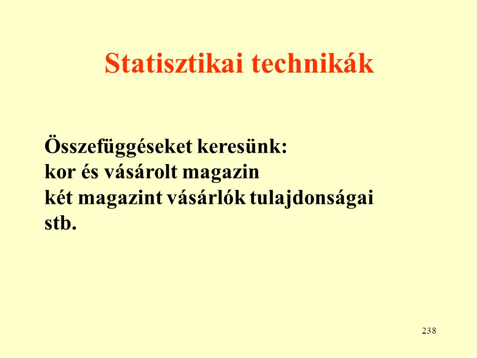 Statisztikai technikák