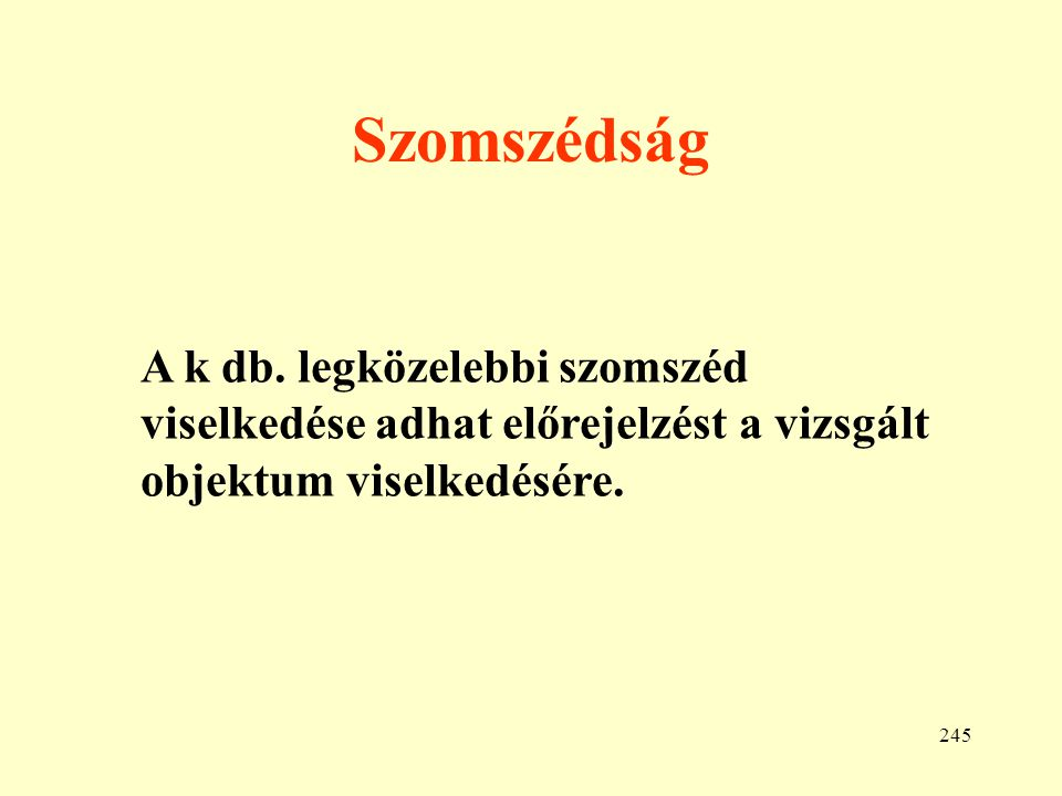 Szomszédság A k db.