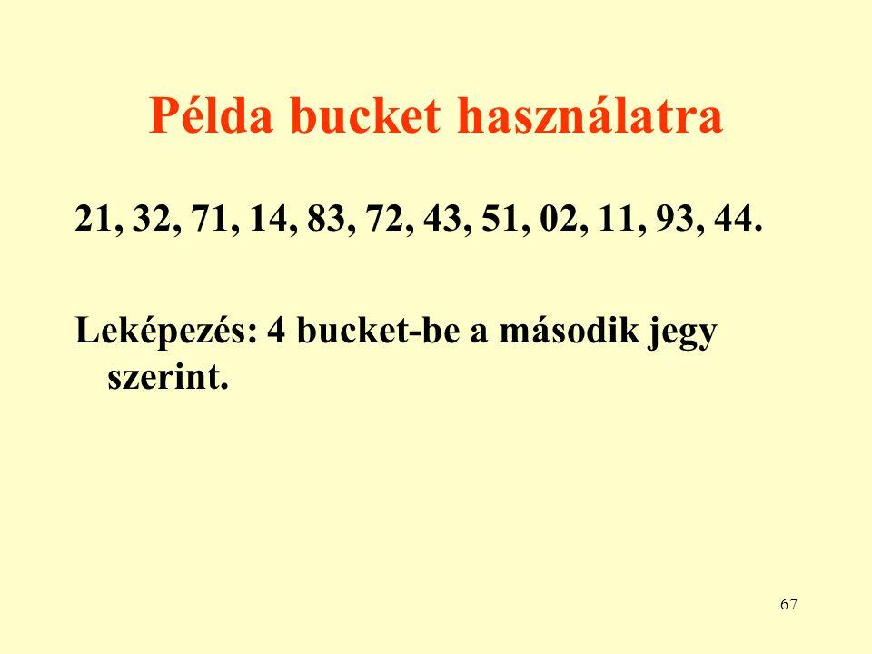 Példa bucket használatra
