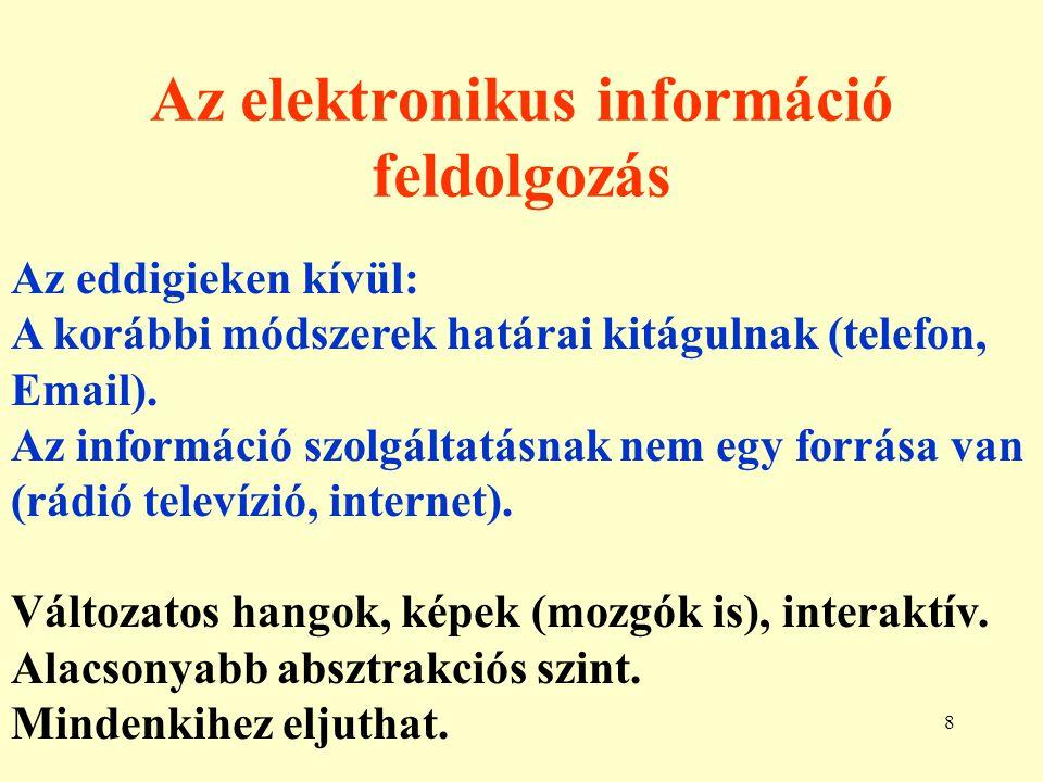Az elektronikus információ feldolgozás
