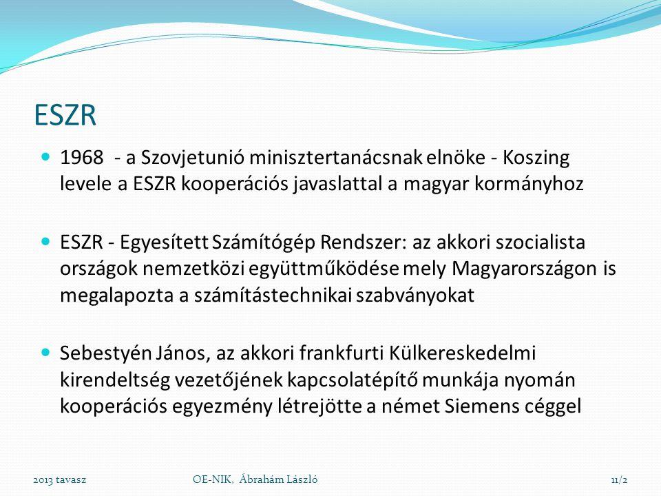 ESZR 1968 - a Szovjetunió minisztertanácsnak elnöke - Koszing levele a ESZR kooperációs javaslattal a magyar kormányhoz.