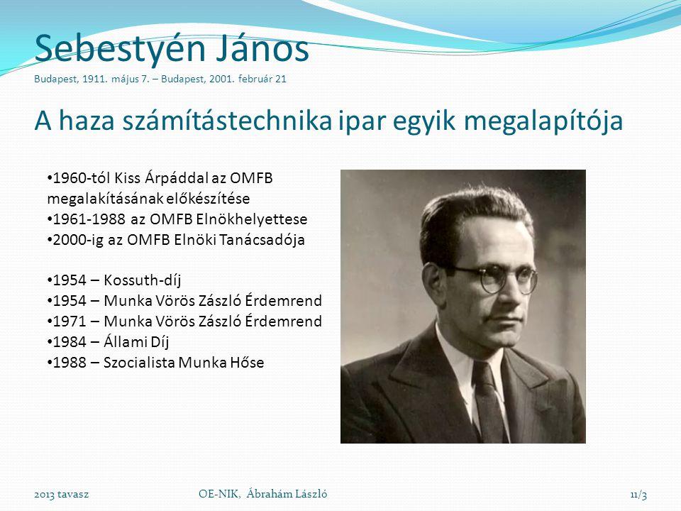 Sebestyén János Budapest, 1911. május 7. – Budapest, 2001