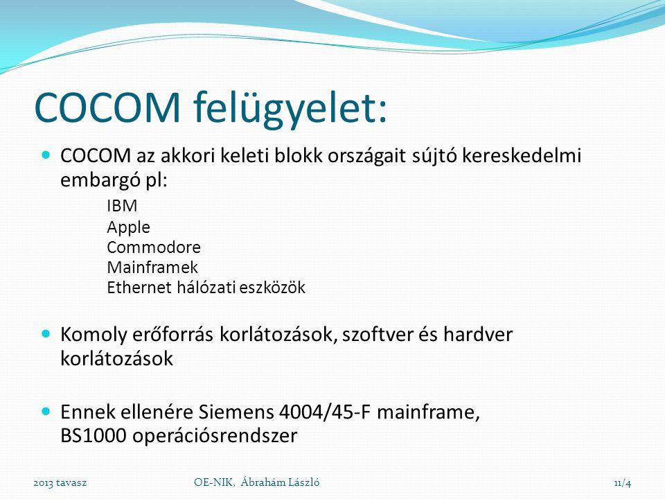 COCOM felügyelet: