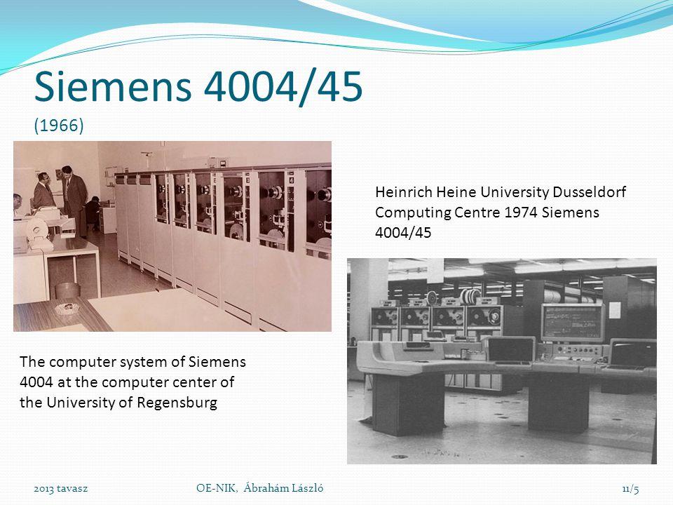 Siemens 4004/45 (1966) Heinrich Heine University Dusseldorf Computing Centre 1974 Siemens 4004/45.