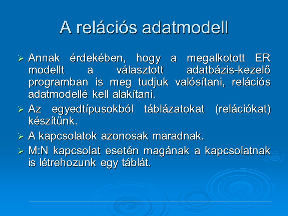 A relációs adatmodell