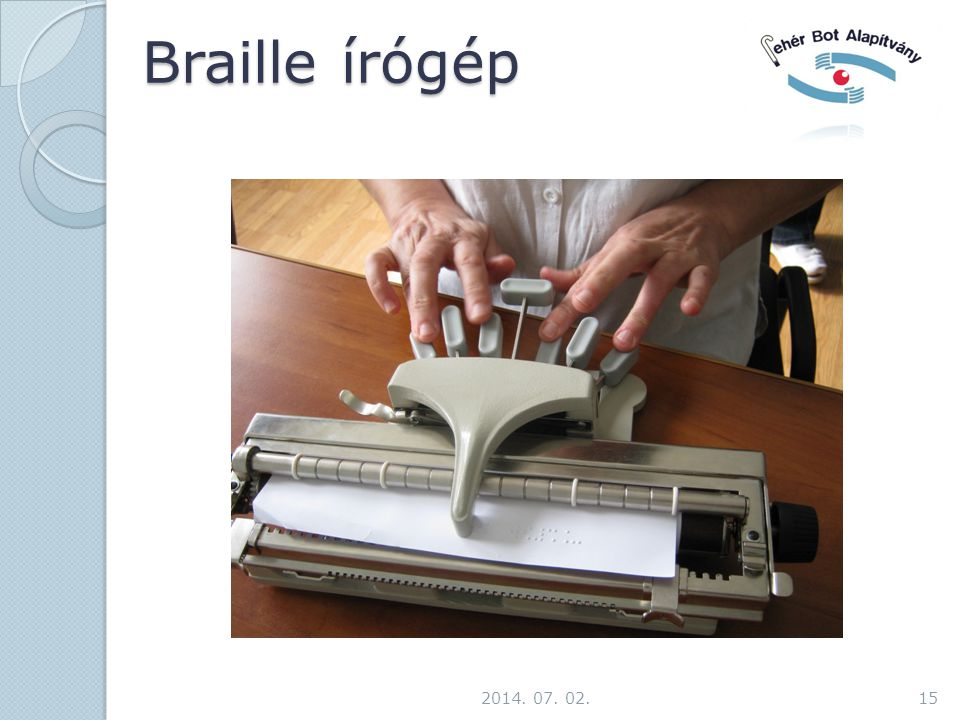 Braille írógép 2017.04.03.