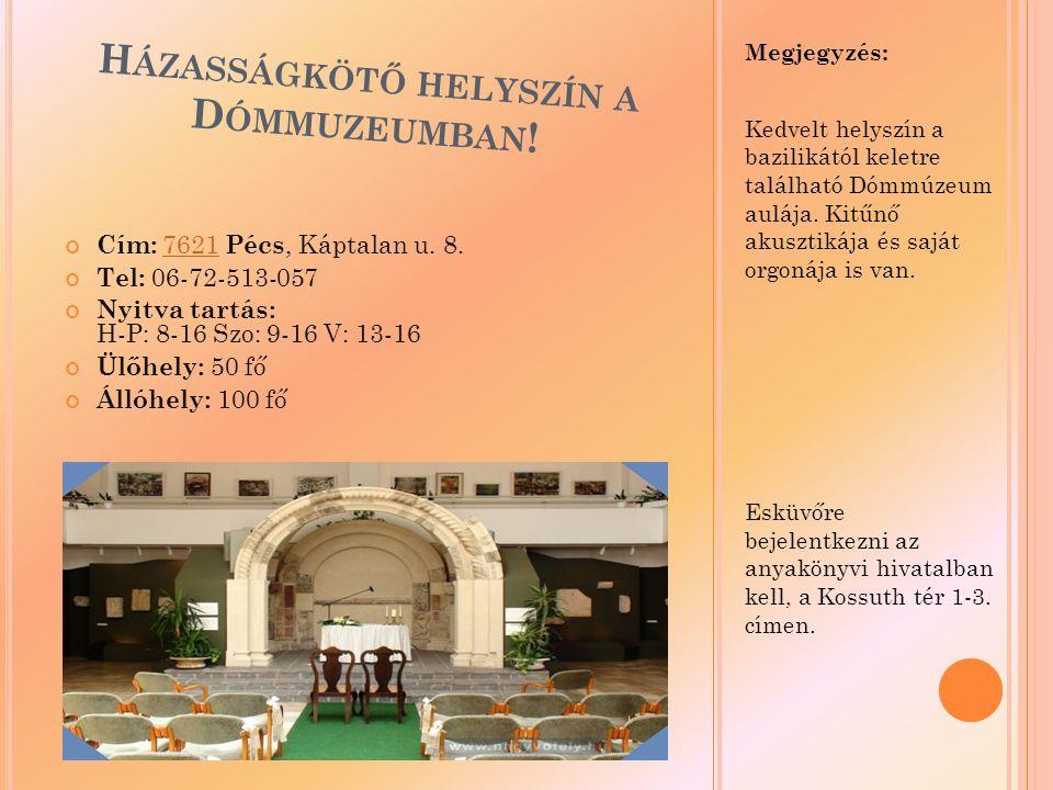 Házasságkötő helyszín a Dómmuzeumban!