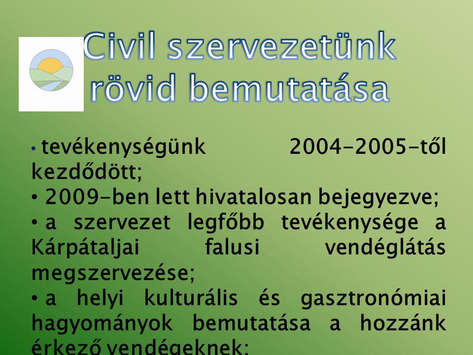 Civil szervezetünk rövid bemutatása