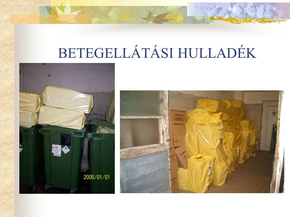 BETEGELLÁTÁSI HULLADÉK