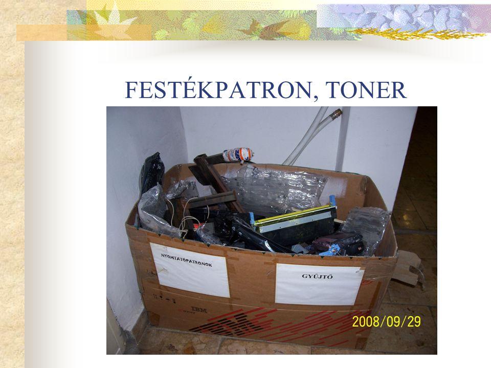 FESTÉKPATRON, TONER