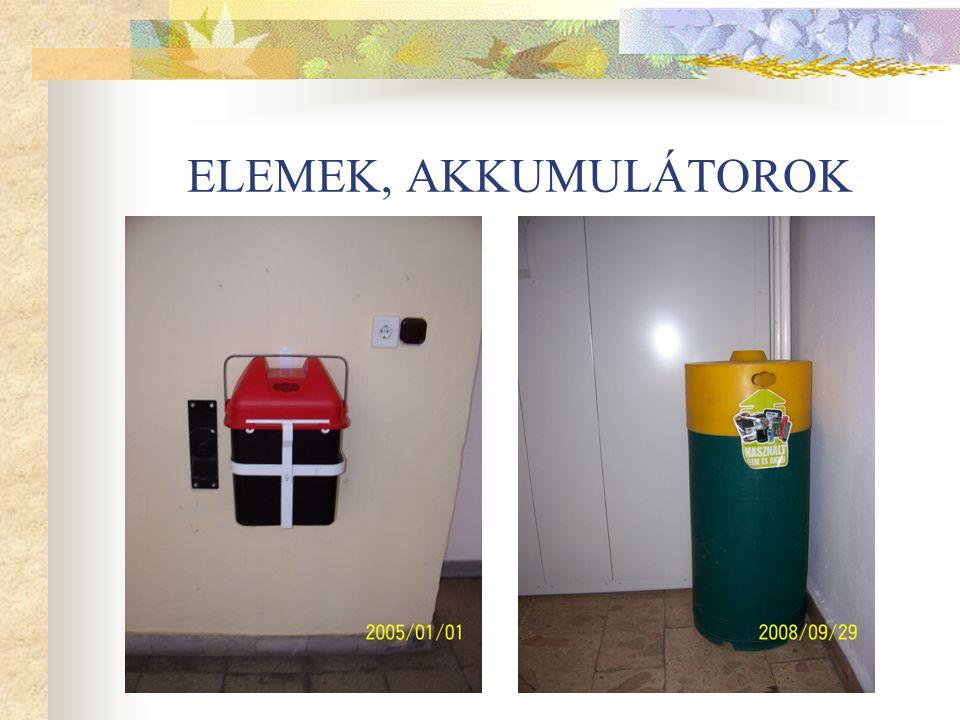 ELEMEK, AKKUMULÁTOROK