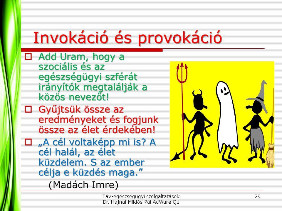 Invokáció és provokáció