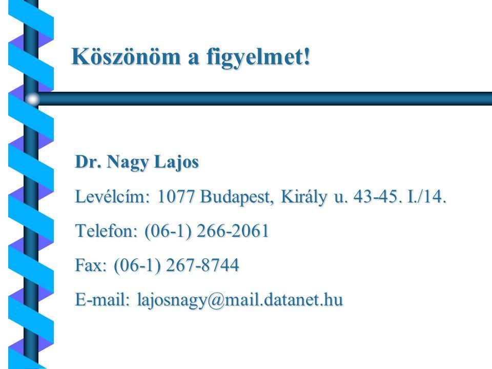 Köszönöm a figyelmet! Dr. Nagy Lajos
