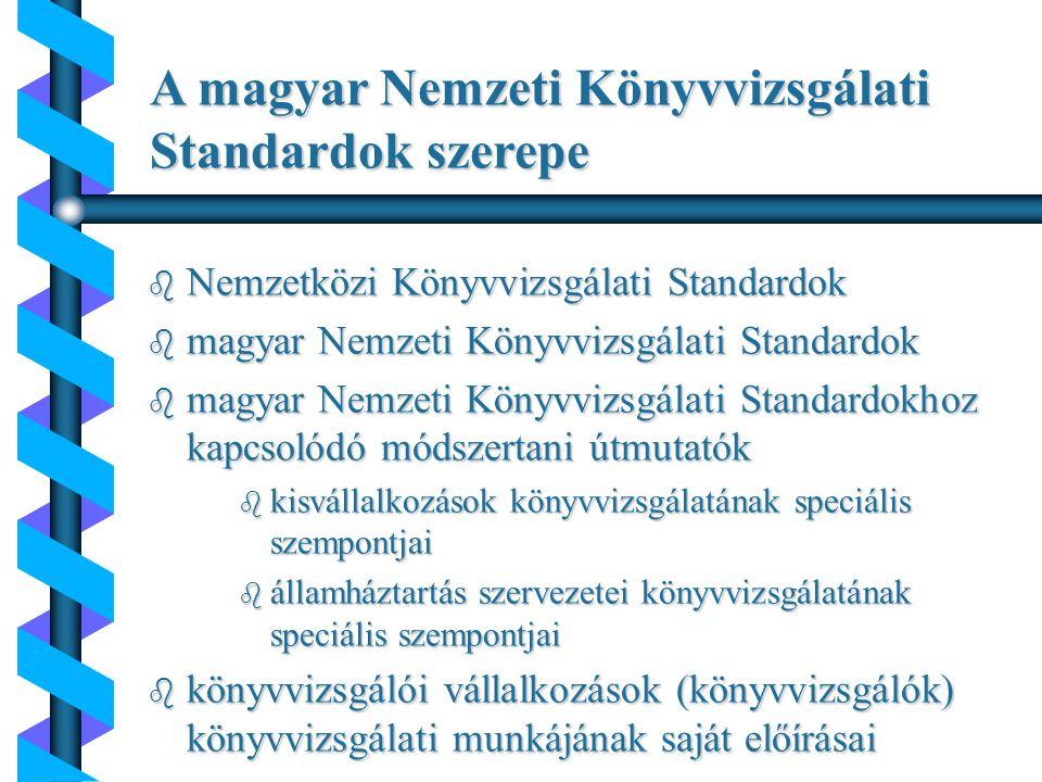 A magyar Nemzeti Könyvvizsgálati Standardok szerepe