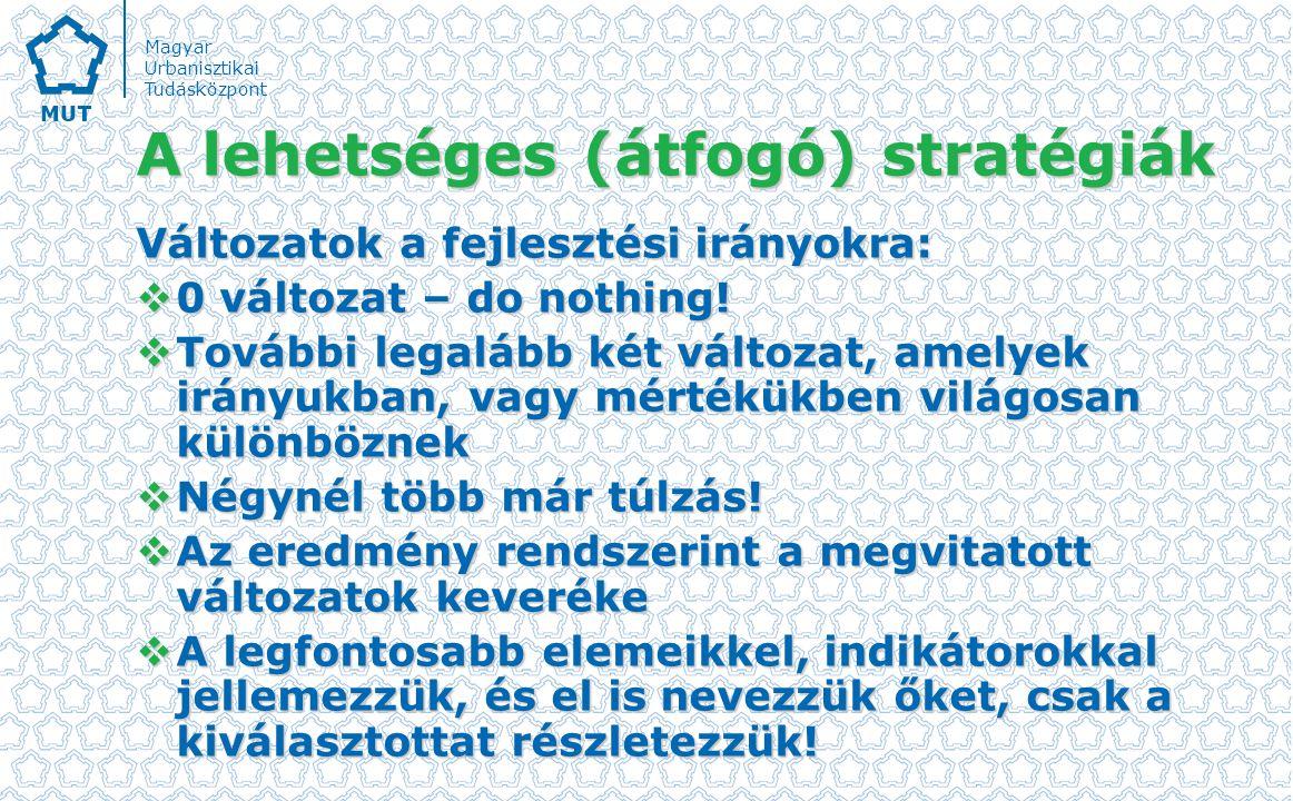 A lehetséges (átfogó) stratégiák