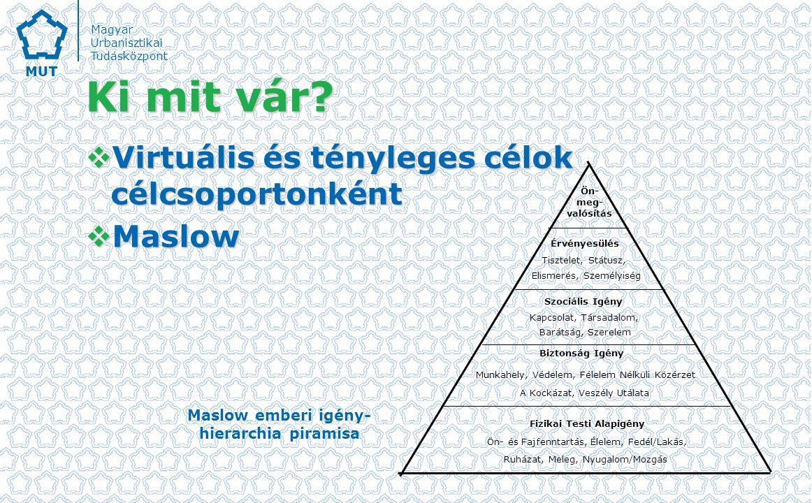 Fizikai Testi Alapigény Maslow emberi igény-hierarchia piramisa