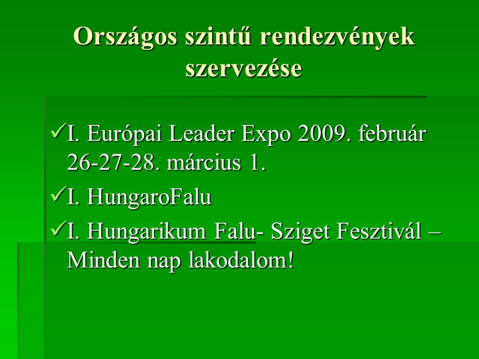 Országos szintű rendezvények szervezése