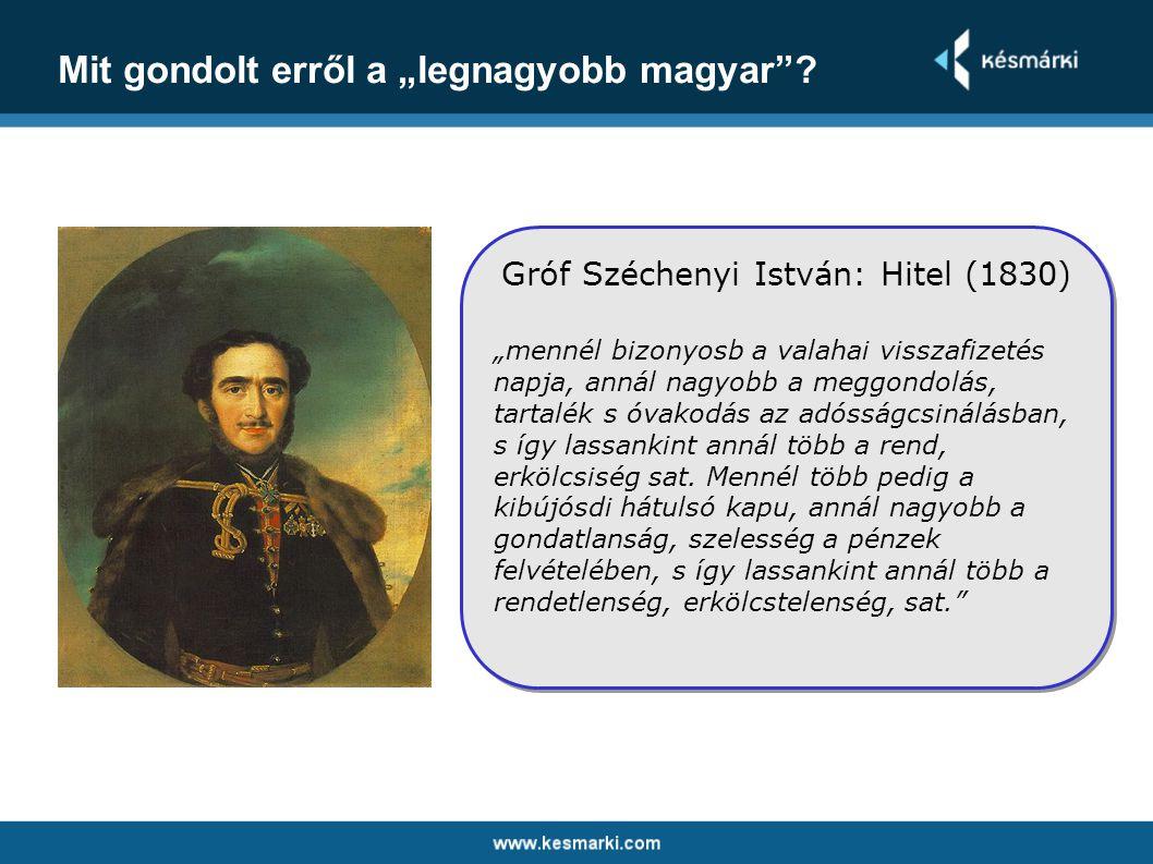 Gróf Széchenyi István: Hitel (1830)