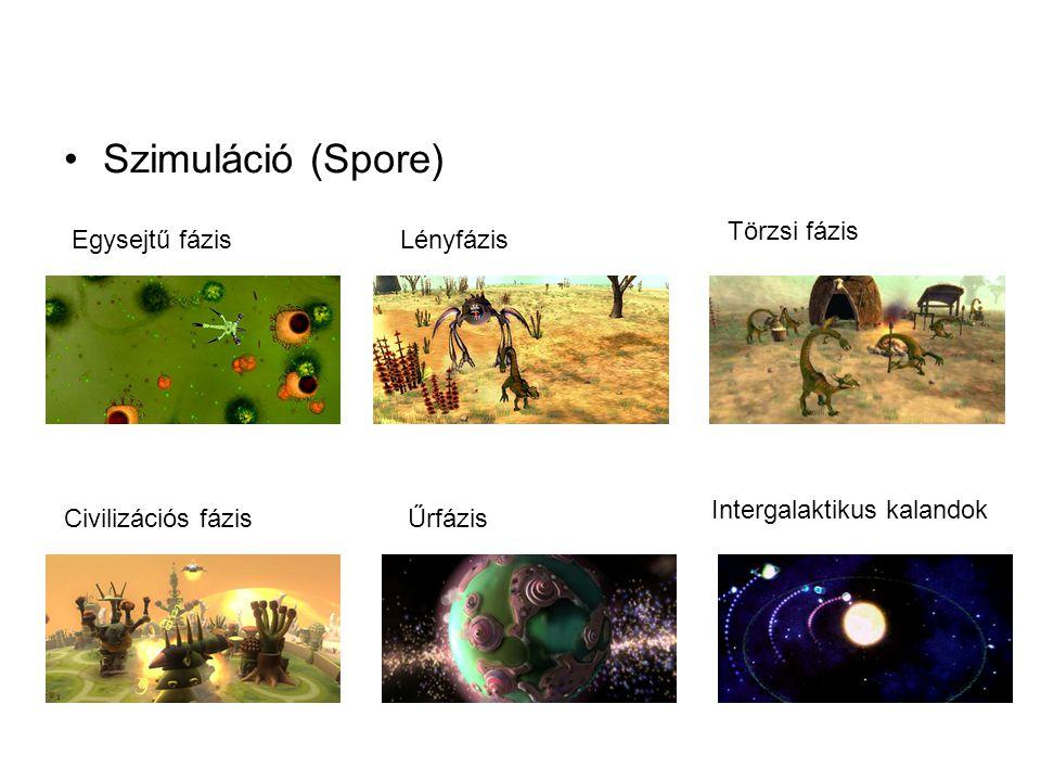 Szimuláció (Spore) Törzsi fázis Egysejtű fázis Lényfázis