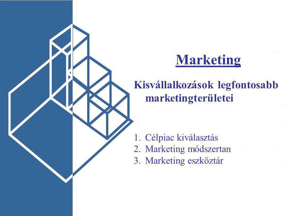 Marketing Kisvállalkozások legfontosabb marketingterületei