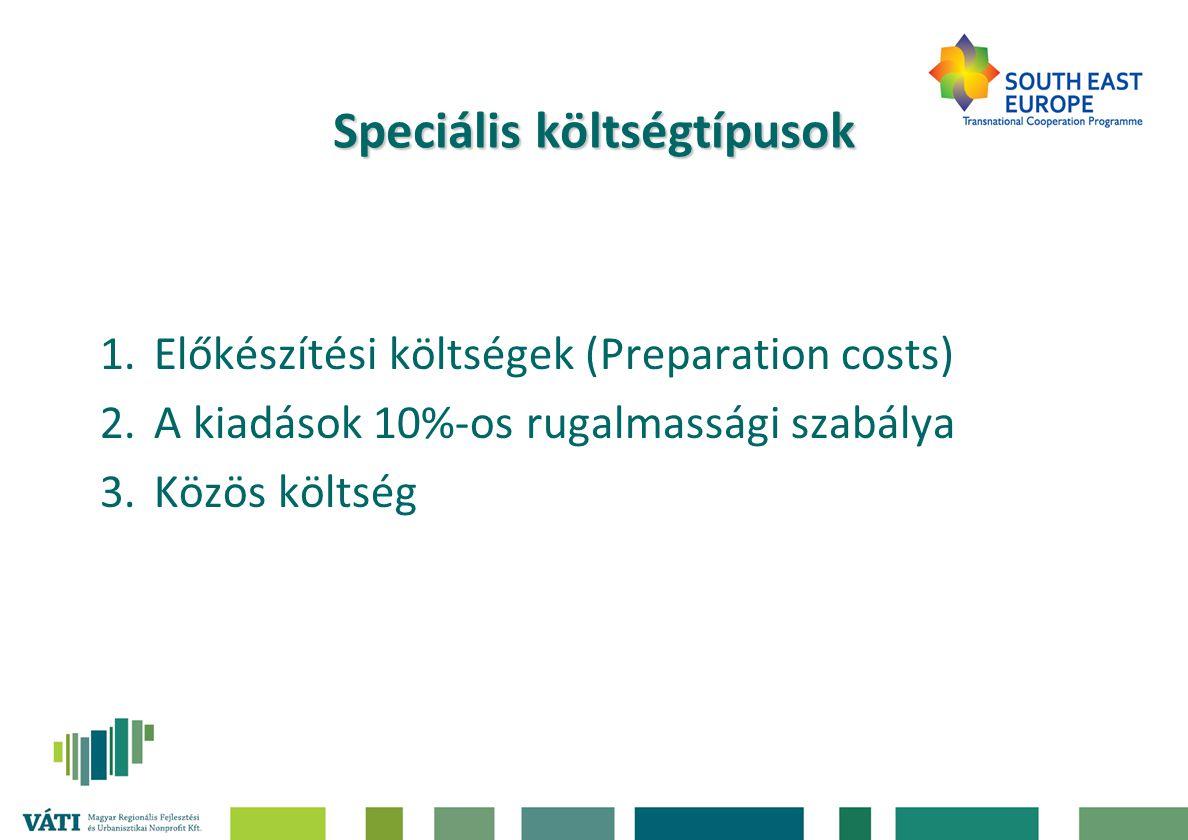Speciális költségtípusok