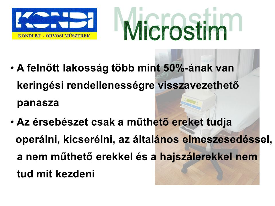 Microstim A felnőtt lakosság több mint 50%-ának van