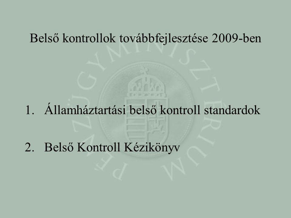 Belső kontrollok továbbfejlesztése 2009-ben