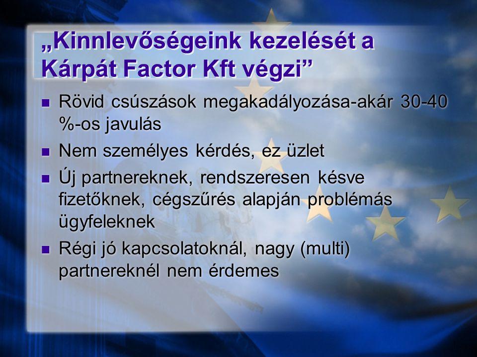"""""""Kinnlevőségeink kezelését a Kárpát Factor Kft végzi"""